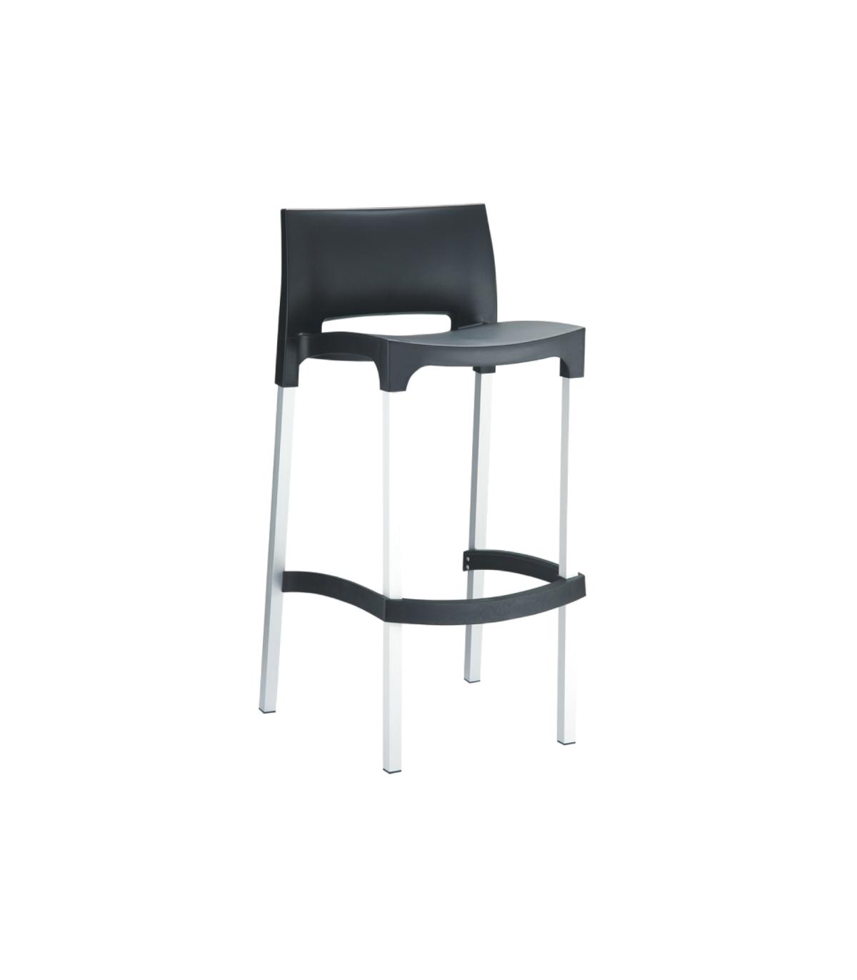 chaise haute polypropyl ne aluminium gio flex. Black Bedroom Furniture Sets. Home Design Ideas